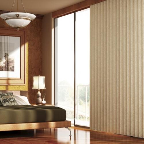 Vertical Blinds in Bedroom
